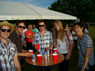 Team won beer drinking contest